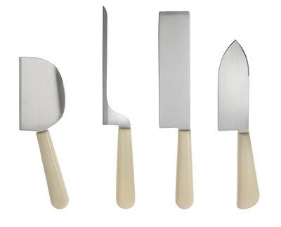 Cuisine - Couteaux de cuisine - Couteau à fromage Milky Way Minor / Set de 4 - Alessi - Set 4 couteaux à fromages - Acier, Résine thermoplastique
