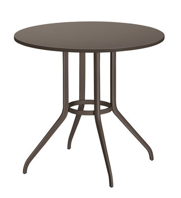 Jardin - Tables de jardin - Table InJoy / Ø 90 cm - Play with Dedon - Poivre noir - Aluminium