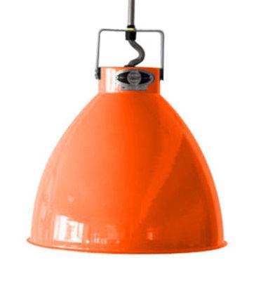 Foto Sospensione Augustin - Medium Ø 24 cm di Jieldé - Arancione lucido - Metallo