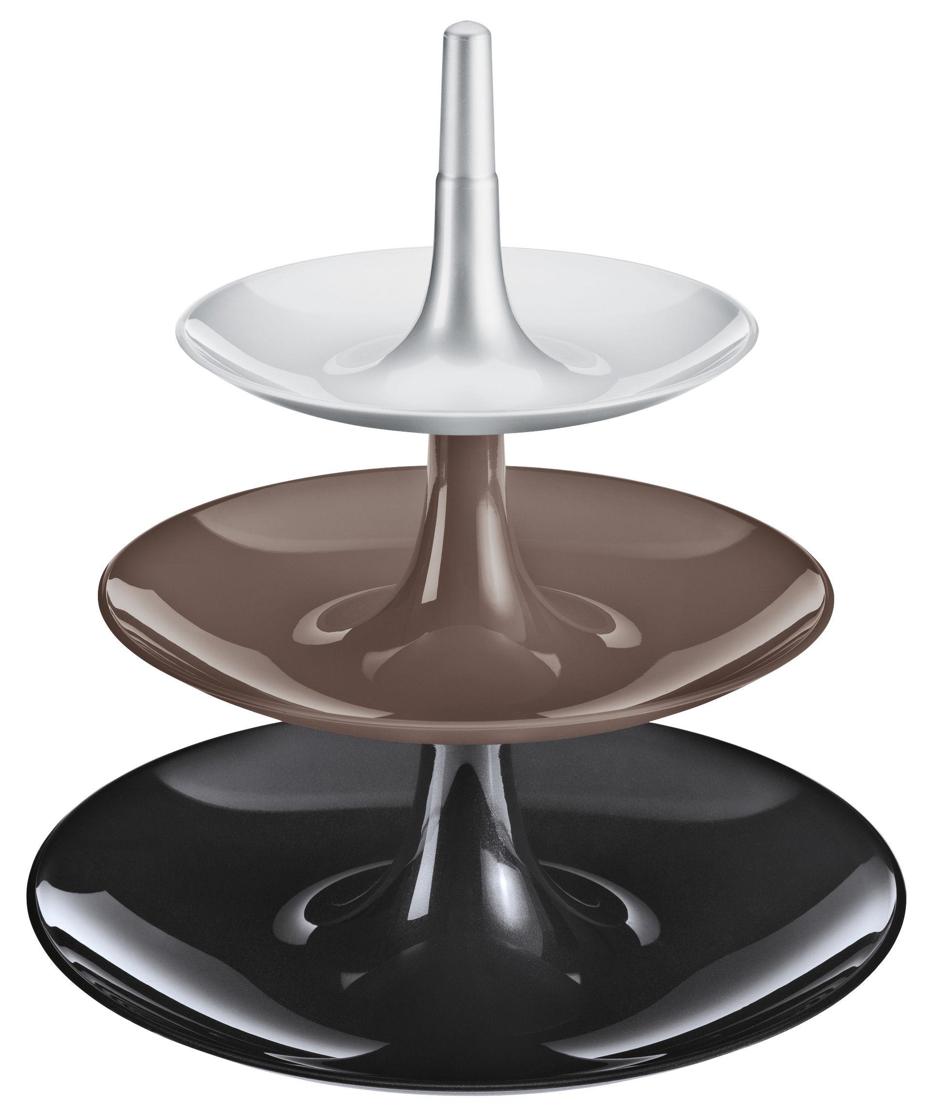 porte fruits babell 31 4 x h 34 cm noir opaque gris argent koziol. Black Bedroom Furniture Sets. Home Design Ideas