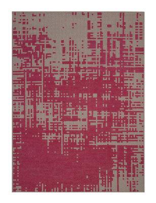 Foto Tappeto Abstract / 170 x 240 cm - Gan - Rosa,Grigio - Tessuto