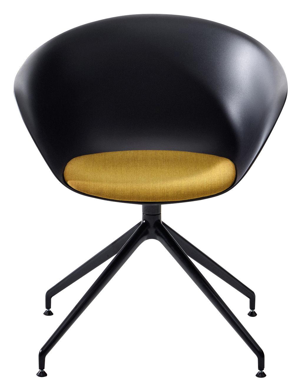 duna 02 swivel armchair black black leg by arper. Black Bedroom Furniture Sets. Home Design Ideas