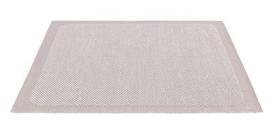 Tapis Pebble Tissé main 200 x 300 cm Muuto rose pâle en tissu