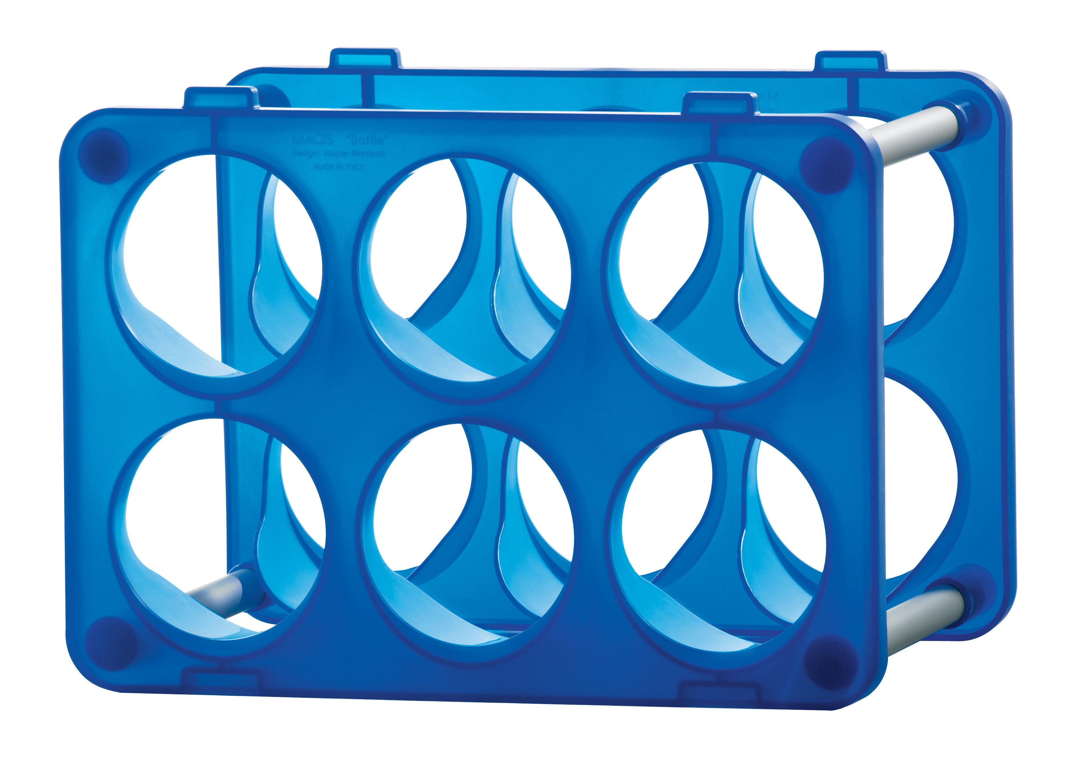 Bottle bottle rack blue by magis for Magis bottle