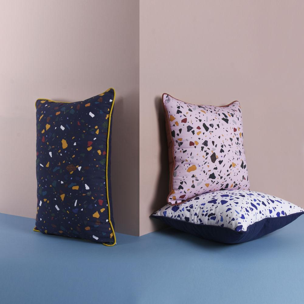 my terrazza kissen 60 x 40 cm marineblau by enostudio made in design. Black Bedroom Furniture Sets. Home Design Ideas