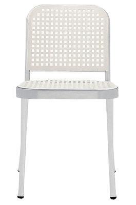 Silver Sedia Alluminio brillante/ Bianco by De Padova | Made In Design