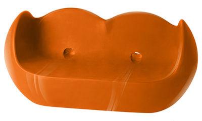 Canapé Blossy / L 159 cm - Version laquée - Slide laqué orange en matière plastique