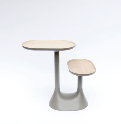 Table Basse Baobab 2 Plateaux Pivotants Gris Moustache