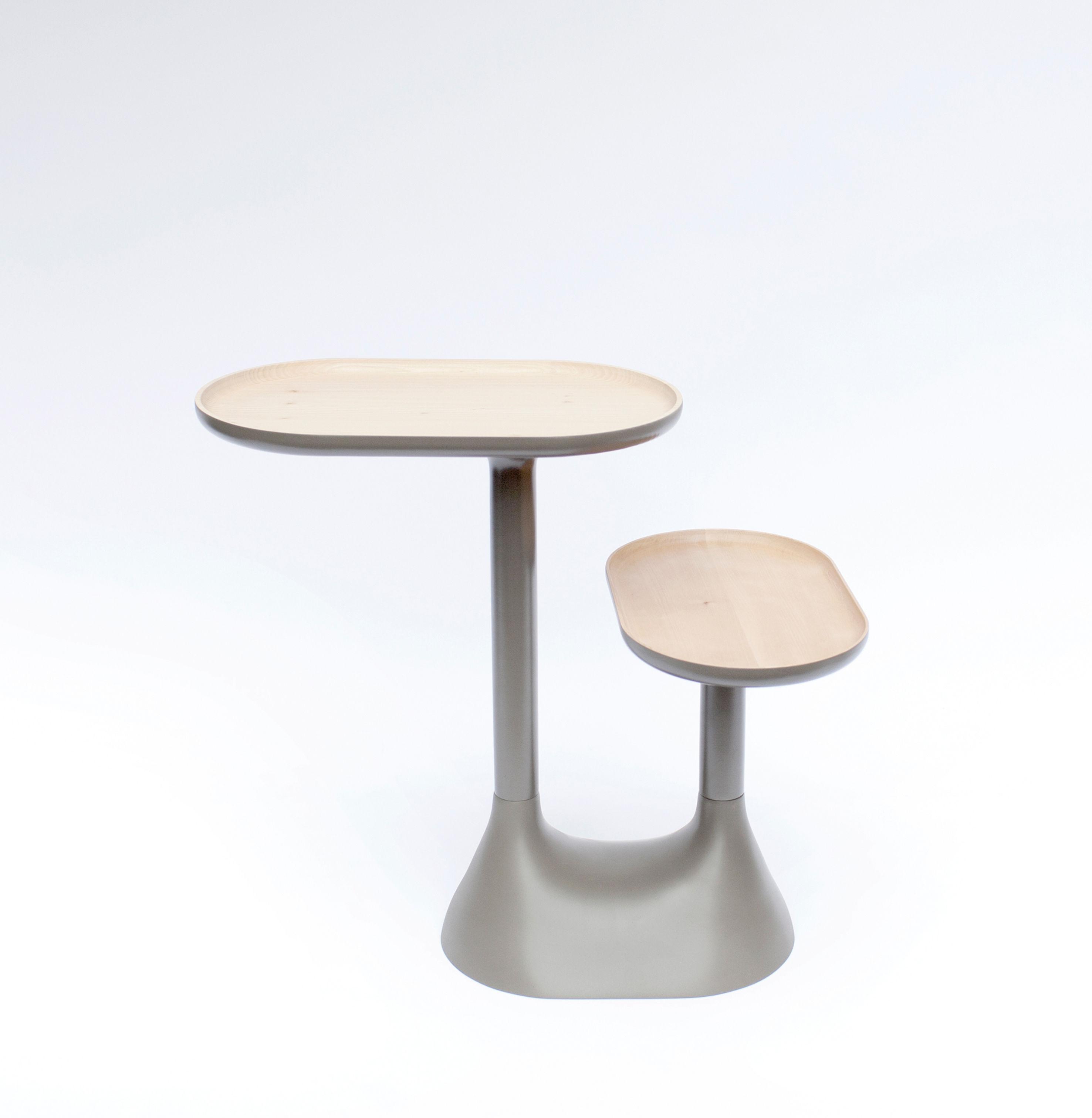 table basse baobab 2 plateaux pivotants gris moustache. Black Bedroom Furniture Sets. Home Design Ideas