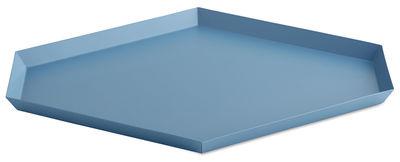 Foto Piano/vassoio Kaleido Large - / 39 x 34 cm di Hay - Blu - Metallo