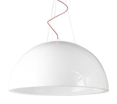Luminaire - Suspensions - Suspension Cupole version laquée - Ø 200 cm - LED - Slide - Laqué blanc - Polyéthylène
