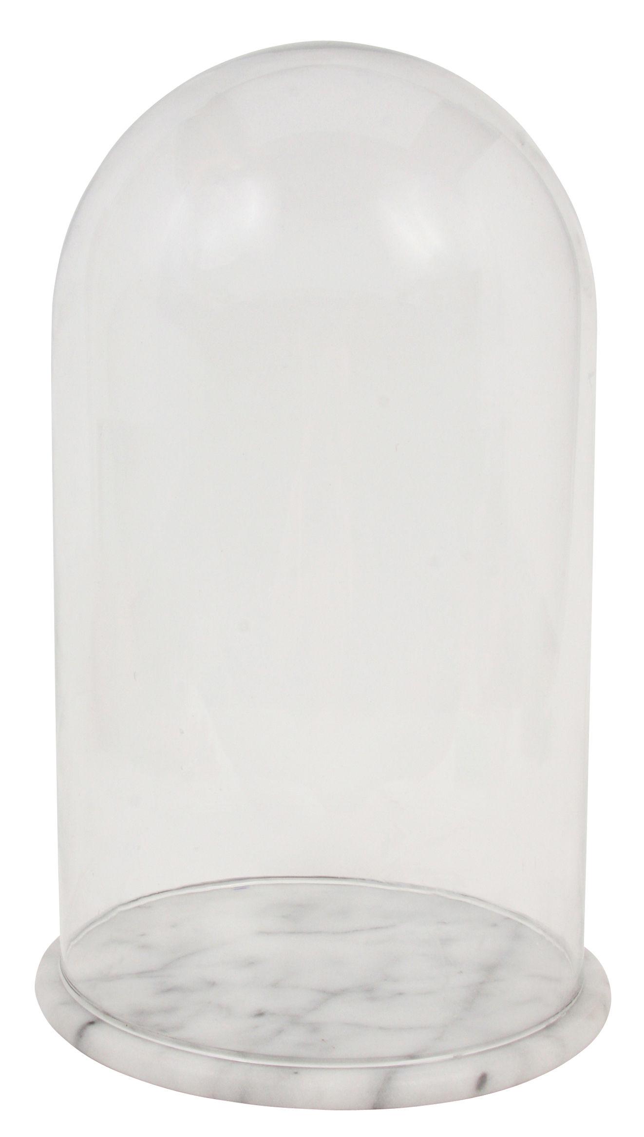cloche en verre large h 26 cm transparent klevering. Black Bedroom Furniture Sets. Home Design Ideas