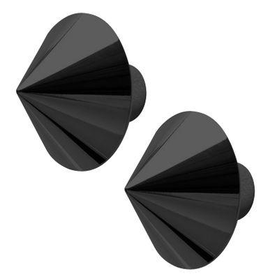 Déco - Portemanteaux et patères - Patère Borchia / Set de 2 - Opinion Ciatti - Noir métallisé - Métal