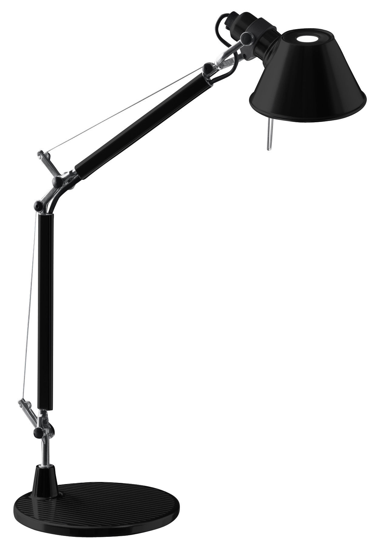 lampe de table tolomeo micro noir artemide made in design. Black Bedroom Furniture Sets. Home Design Ideas