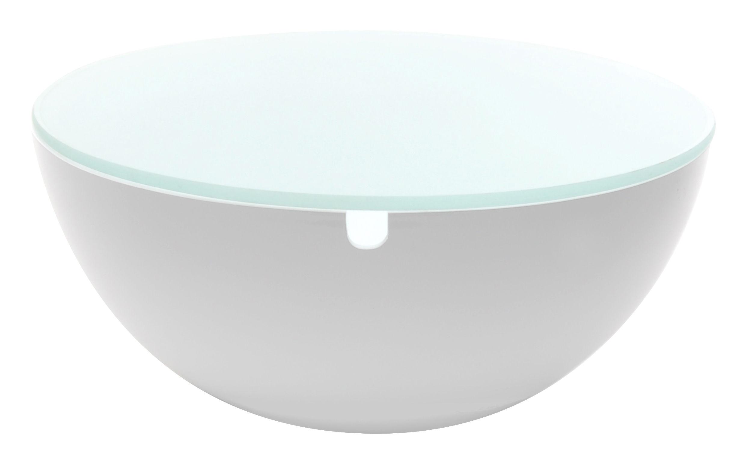 table basse slice coffre 60 cm plateau verre blanc verre xl boom made in design. Black Bedroom Furniture Sets. Home Design Ideas