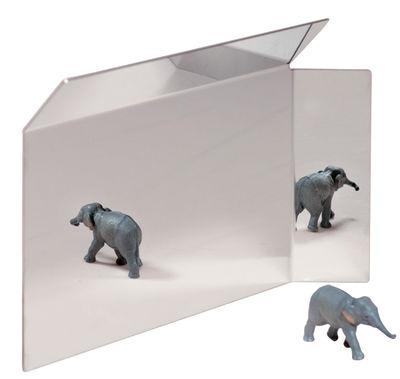 Mobilier - Miroirs - Miroir Side Small / à poser - L 38 x H 25 cm - Moustache - Miroir - 38 x 25 cm - Acier inoxydable poli miroir