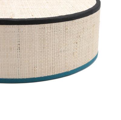 applique tambourin rabane 25 non lectrifi rabane biais noir bleu maison sarah lavoine. Black Bedroom Furniture Sets. Home Design Ideas