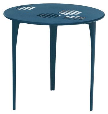 Pattern Tisch Ø 80 cm - Emu - Azurblau