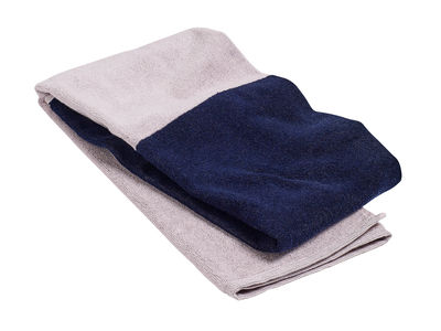 Drap de bain Compose / 140 x 70 cm - Hay rose,bleu marine en tissu