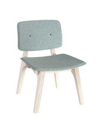 Mobilier - Chaises, fauteuils de salle à manger - Chaise enfant Mikado XS / Bois & Tissu - Ondarreta - Vert menthe / Bois naturel - Bouleau, Tissu
