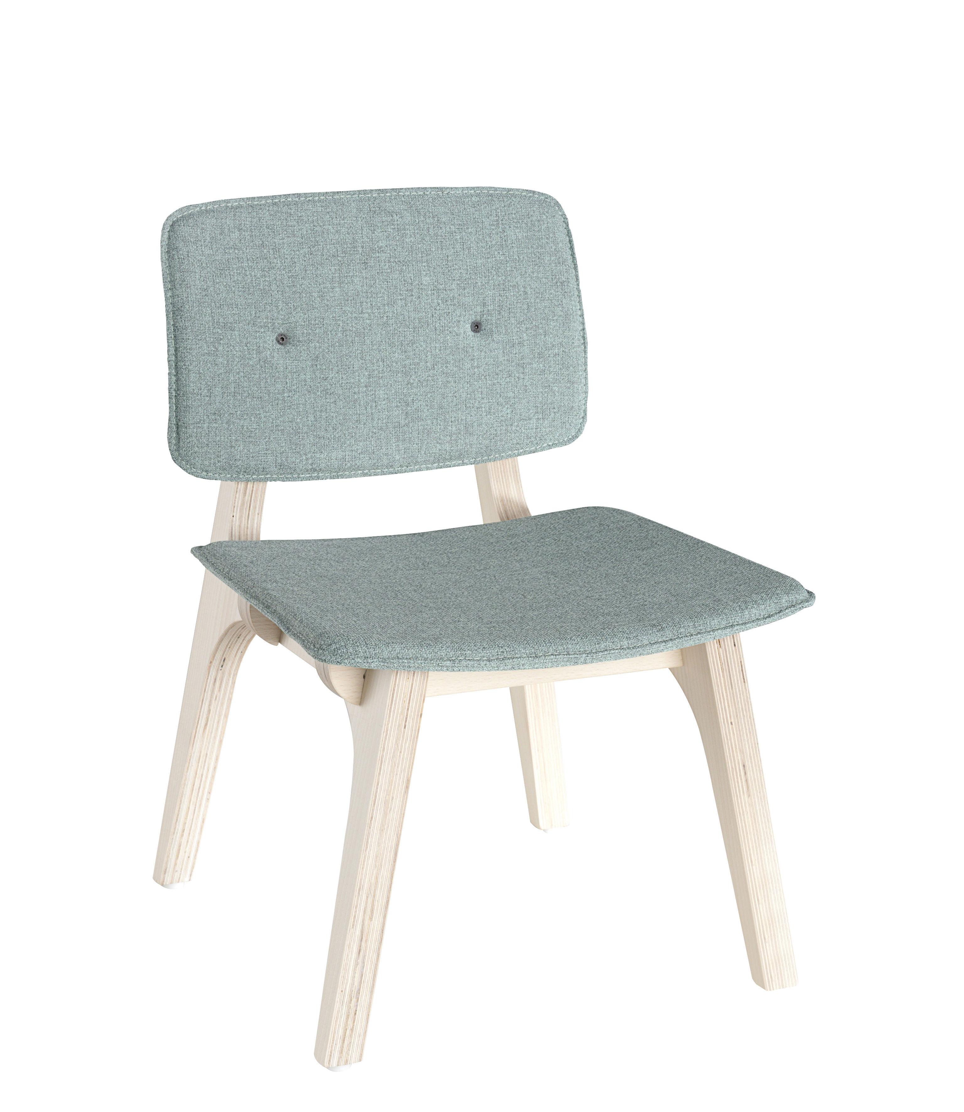 Chaise enfant mikado xs bois tissu vert menthe bois for Chaise enfant bois