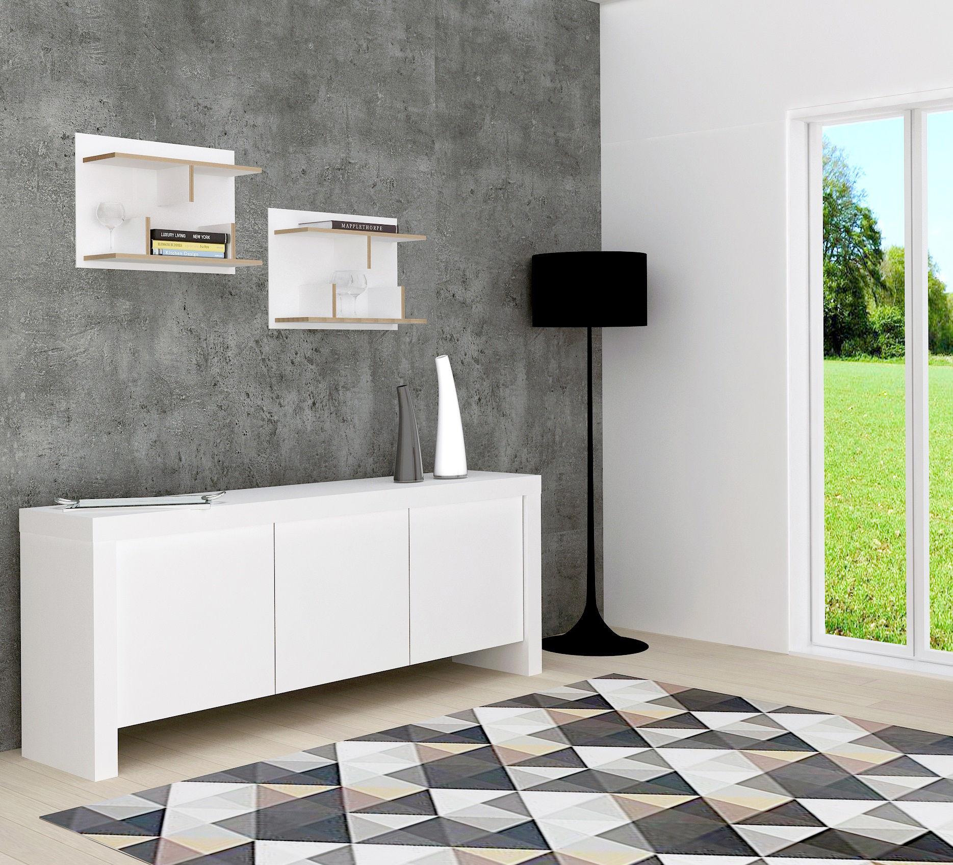 etag re rack l 60 x h 45 cm noir tranches bois pop up home. Black Bedroom Furniture Sets. Home Design Ideas