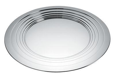 Plateau Le Cerchie / Centre de table - Ø 48 cm - Alessi acier poli miroir en métal