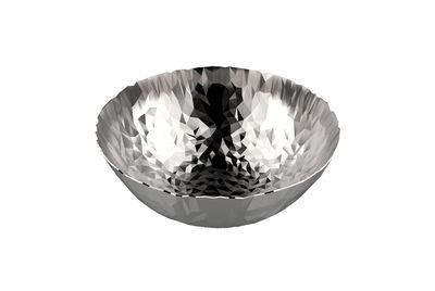 Arts de la table - Corbeilles, centres de table - Corbeille Joy N.1 / Ø 20,7 cm - Alessi - Acier - Acier inoxydable 18/10