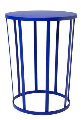 Foto Tavolino Hollo / Sgabello - Ø 35 x H 44 cm - Petite Friture - Blu - Metallo Tavolino d'appoggio