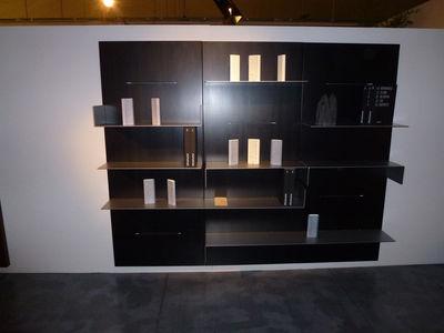 biblioth que iwall panneau mural l 80 cm x h 190 cm noir zeus. Black Bedroom Furniture Sets. Home Design Ideas