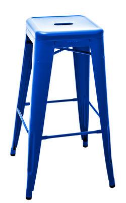 Foto Sgabello bar H - / Acciaio opaco - H75 cm - Les Couleurs® Le Corbusier di Tolix - Blu oltremare 59 - Metallo