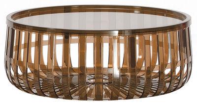 Tavolino Panier di Kartell - Marrone - Materiale plastico
