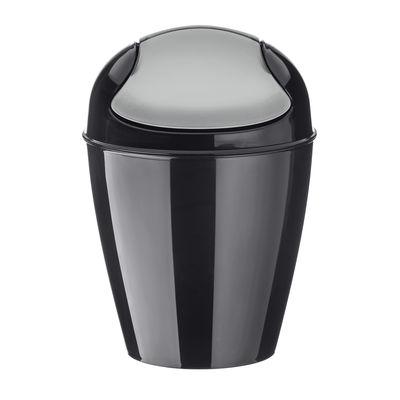 Poubelle de table Del XXS H 18,7 cm 0,9 Litres Koziol noir en matière plastique