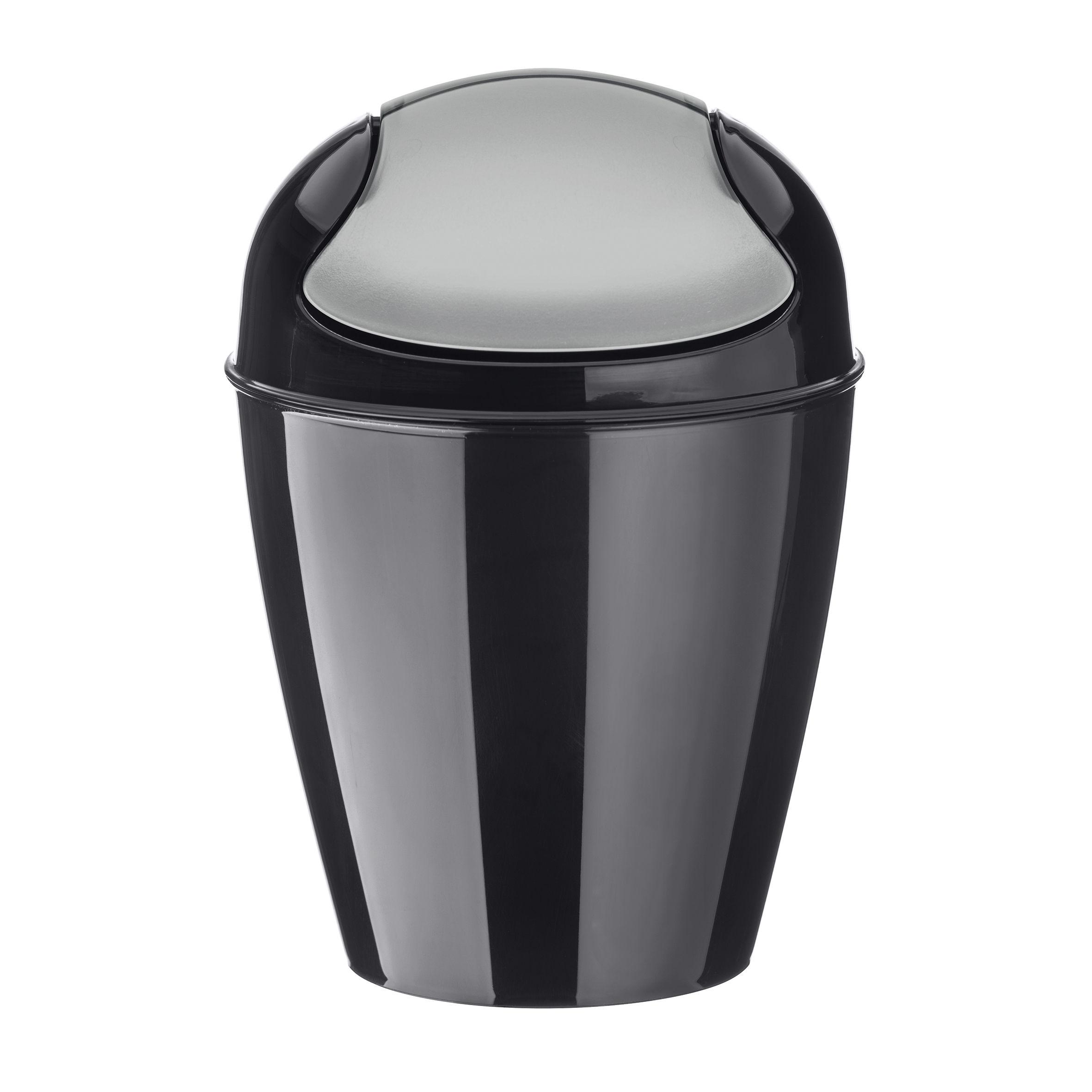 poubelle de table del xxs h 18 7 cm 0 9 litres noir koziol. Black Bedroom Furniture Sets. Home Design Ideas