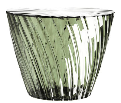 Foto Tavolino Sparkle - / Ø 45 x H 35 cm di Kartell - Salvia - Materiale plastico