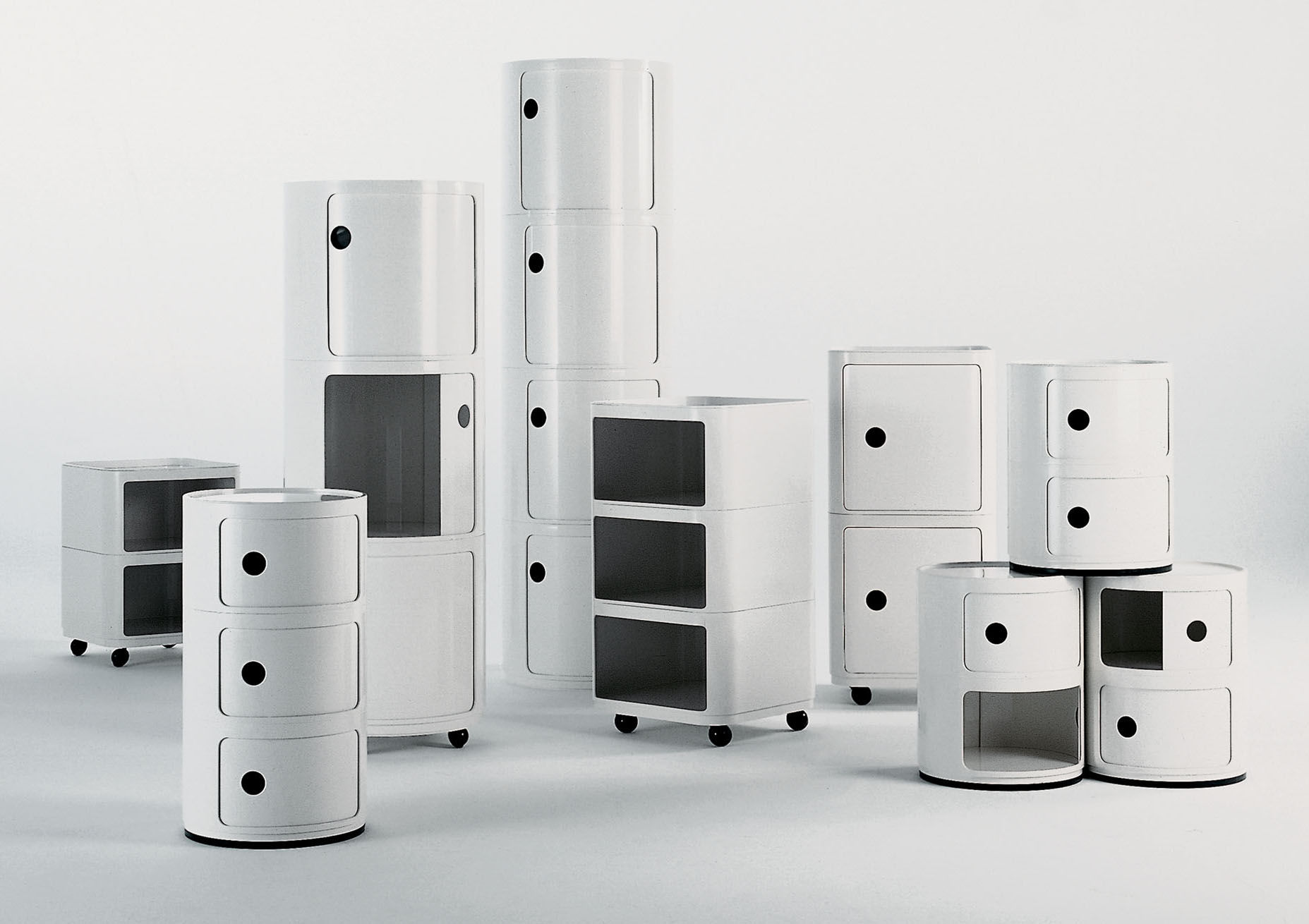 componibili storage - 2 elements ivory white by kartell