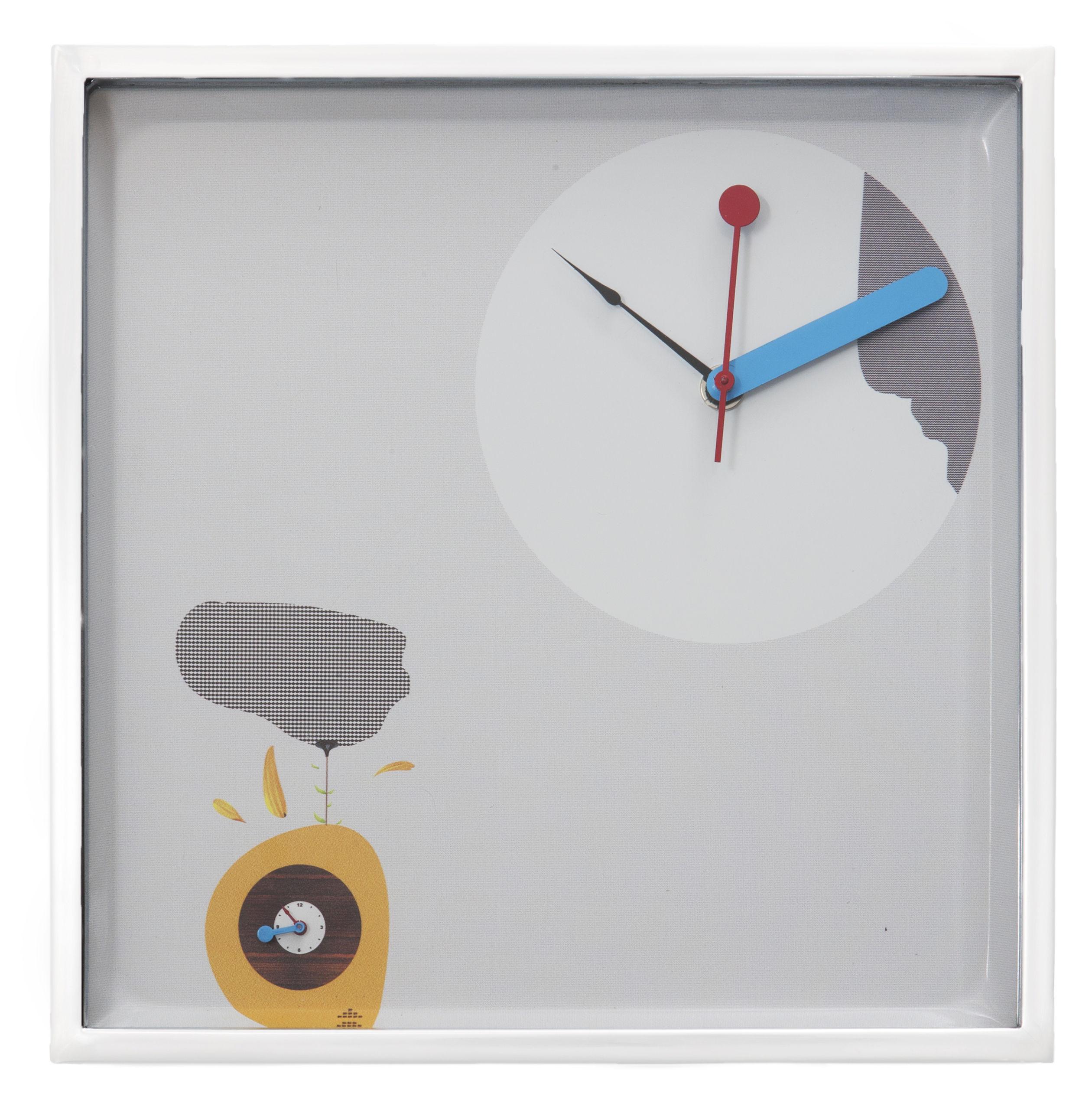 horloge murale magic hour carr e 28 x 28 cm carr e multicolore driade. Black Bedroom Furniture Sets. Home Design Ideas
