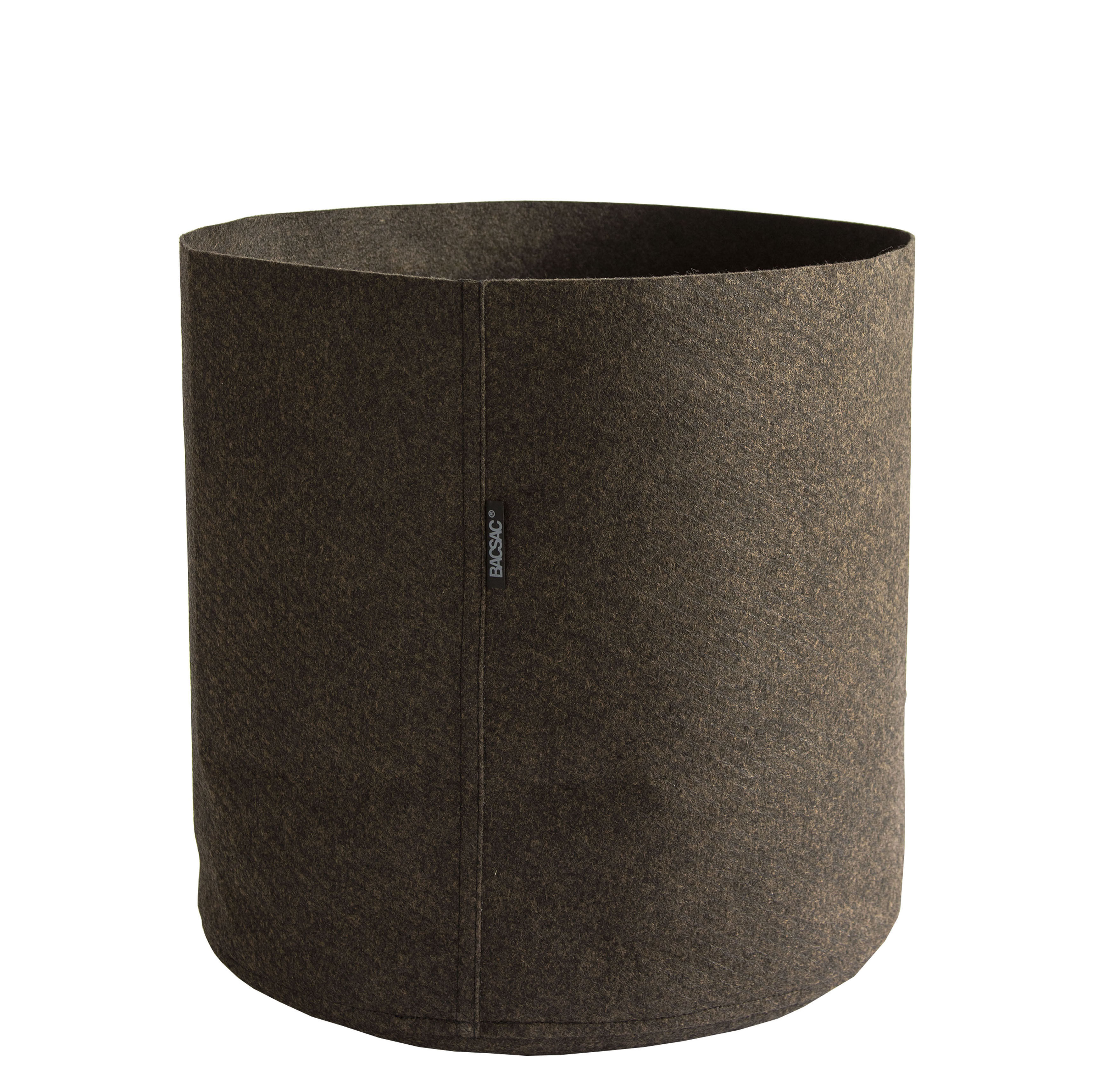 Humus feutre flowerpot 50 l 50 l brown by bacsac for Cache pot design interieur