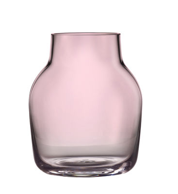 Vase Silent / Ø 11 cm - Muuto rose transparent en verre