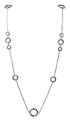 Collier Collection 925 by Andrée Putman Sautoir multi anneaux Christofle argent en métal