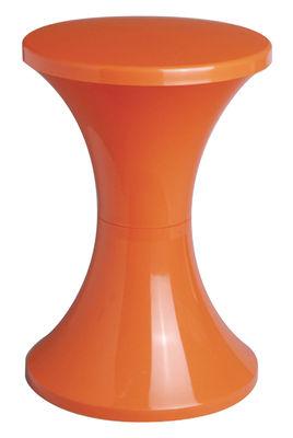 Tabouret Tam Tam Pop Plastique Stamp Edition orange en matière plastique