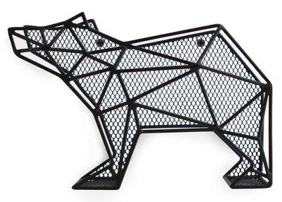 Porte courrier ours poser ou fixer au mur ours noir - Porte serviette a fixer au mur ...