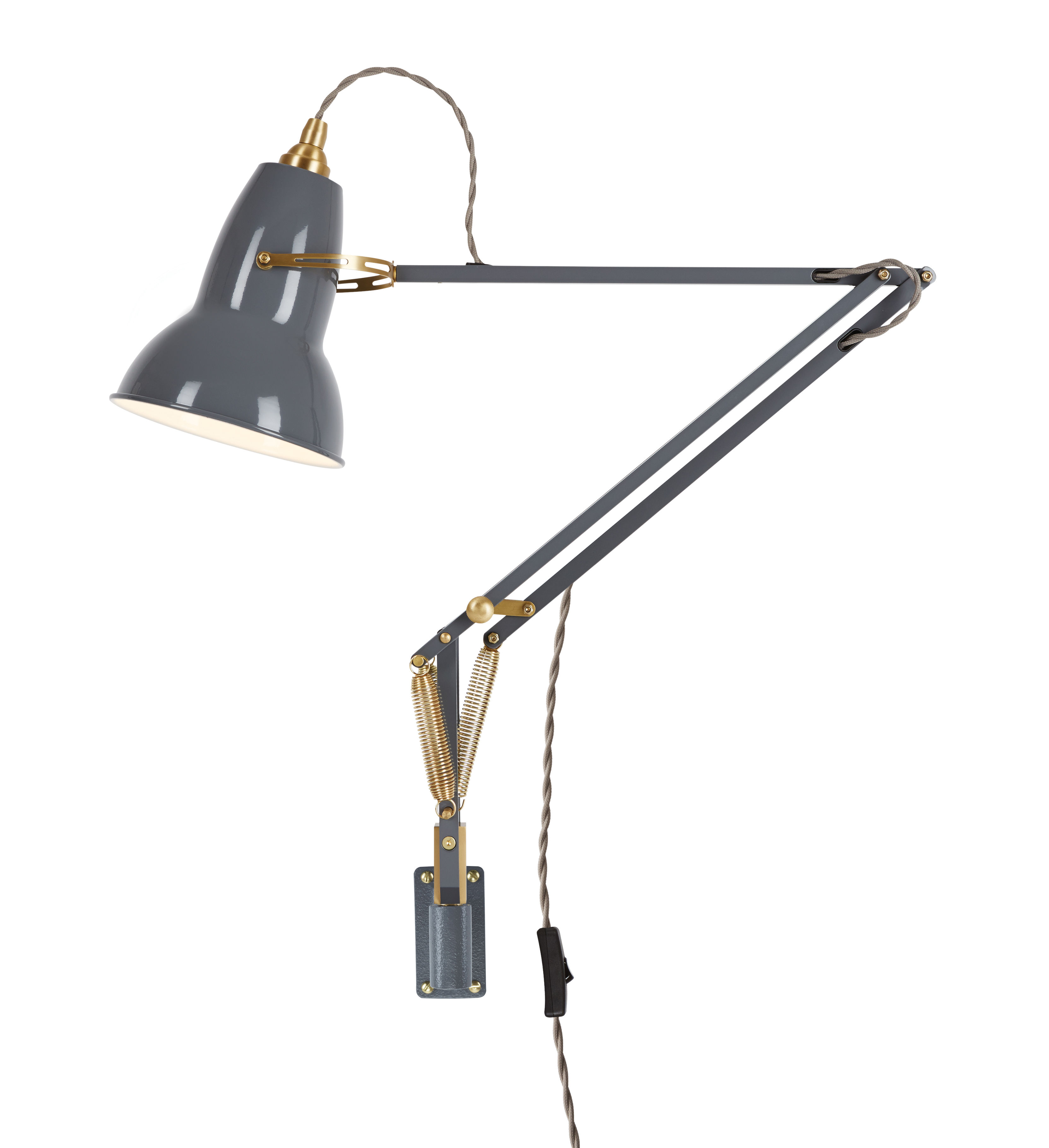 applique original 1227 laiton bras articul gris l phant anglepoise. Black Bedroom Furniture Sets. Home Design Ideas
