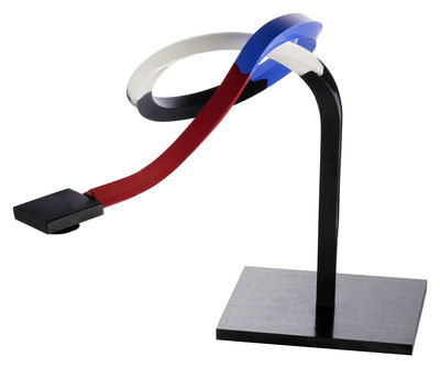 Lighting - Table Lamps - Zufall T Table lamp by Ingo Maurer - Black, red, blue & white - Aluminium, Corian, Silicone