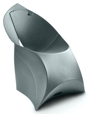 Mobilier - Chaises, fauteuils de salle à manger - Fauteuil pliant Flux Chair / Polypropylène - Flux - Gris anthracite - Polypropylène