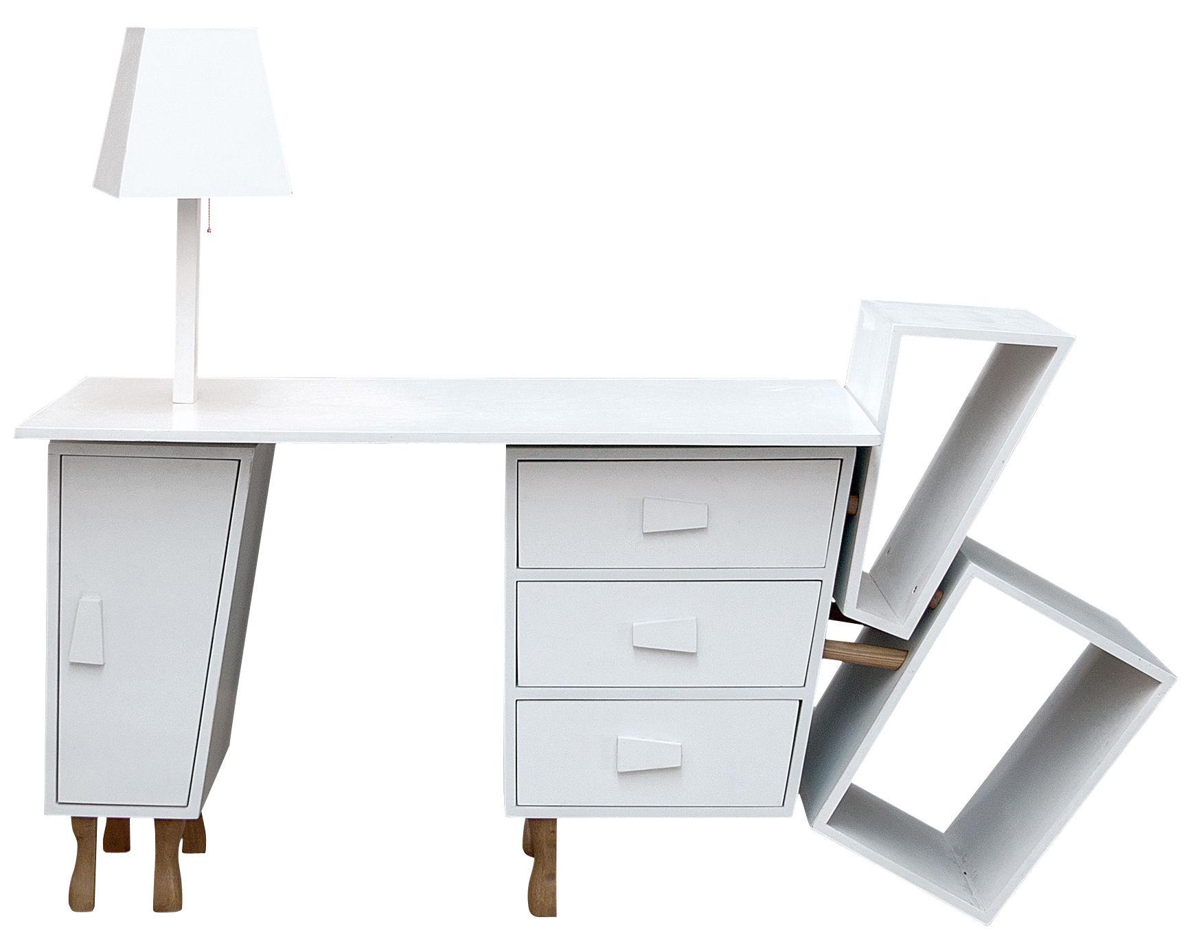 Scrivania Ufficio Legno Massello : Scopri scrivania kenn top estensibile cassetti e lampada