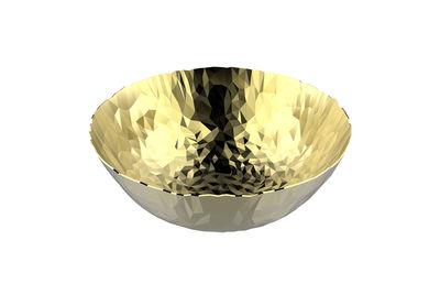 Arts de la table - Corbeilles, centres de table - Corbeille Joy N.1 / Ø 20,7 cm - Or 24 carats - Alessi - Or 24 carats - Acier inoxydable 18/10, Or 24 carats