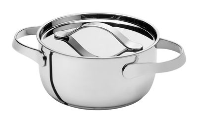 Cuisine - Casseroles, poêles, plats... - Marmite Al Dente Ø 20 cm / 2,9L - Demi-traiteur sans couvercle - Serafino Zani - Ø 20 cm - Inox brillant - Acier inoxydable poli