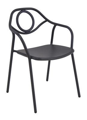 Zahir Stapelbarer Sessel / Metall - Emu - Altes Eisen