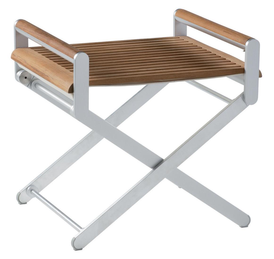 plateau pour pouf oskar plateau en teck sifas. Black Bedroom Furniture Sets. Home Design Ideas